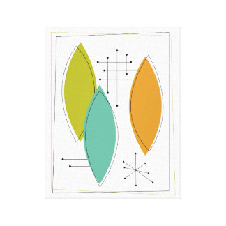 Ornaments Mid-century Modern Wrapped Canvas