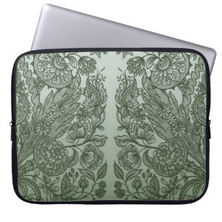 ornaments moss green laptop sleeve