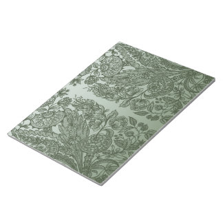 ornaments moss green notepad