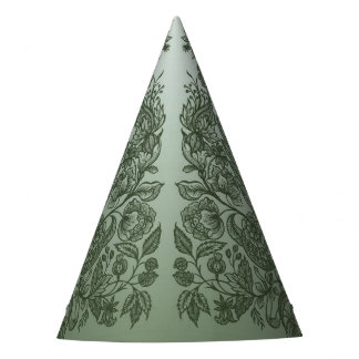 ornaments moss green party hat