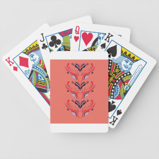 Ornaments orient orange bicycle playing cards