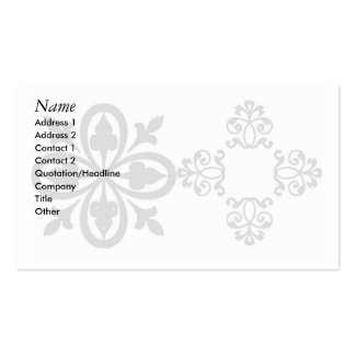 ornaments pack of standard business cards
