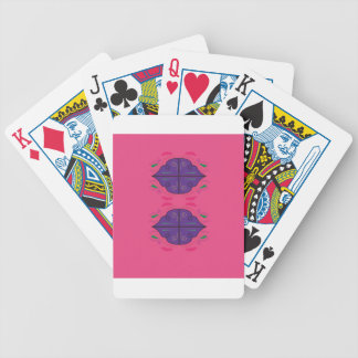 Ornaments purple pink bicycle playing cards