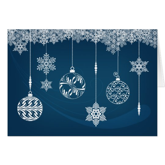 Ornaments & Snowflakes Christmas Card