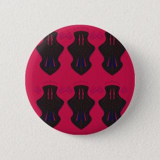 Ornaments vintage black red 6 cm round badge