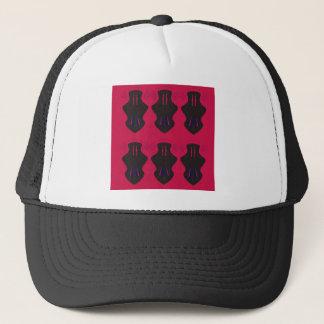 Ornaments vintage black red trucker hat