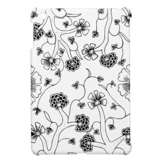 Ornate Abstract Flower Textile Pattern iPad Mini Cover
