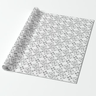 Ornate Abstract Flower Textile Pattern Wrapping Paper