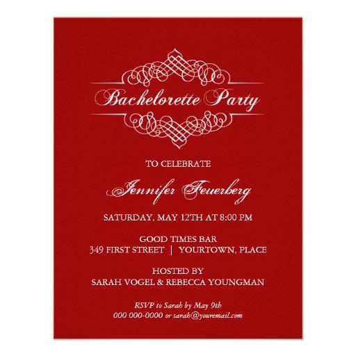 Ornate Bachelorette Party Invitation