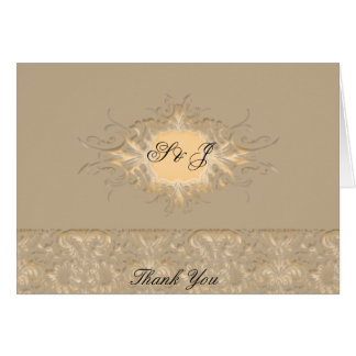 Ornate beige Wedding set Greeting Card