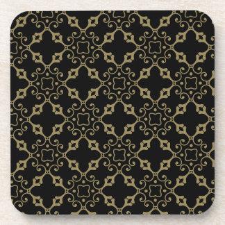 Ornate Black and Gold Coaster