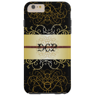 Ornate Black Gold Elegant Dressy CricketDiane Tough iPhone 6 Plus Case