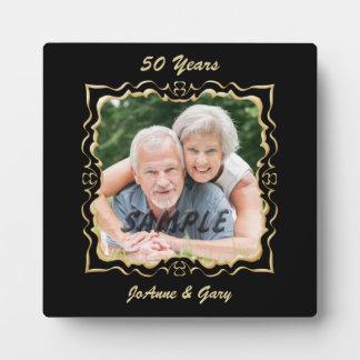Ornate Black Gold Frame Anniversary