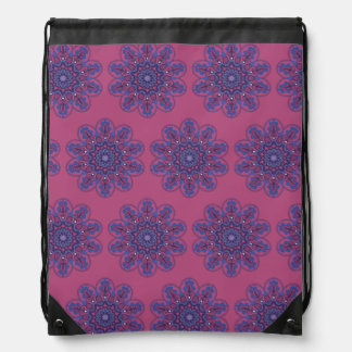 Ornate Boho Mandala Drawstring Bag