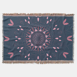 Ornate Boho Mandala Navy and Rose