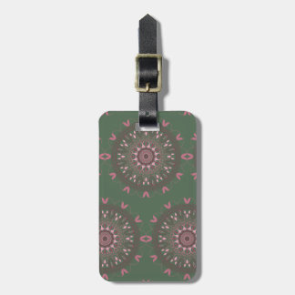 Ornate Boho Mandala Olive Luggage Tag