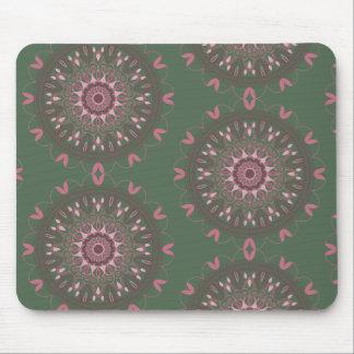 Ornate Boho Mandala Olive Mouse Pad
