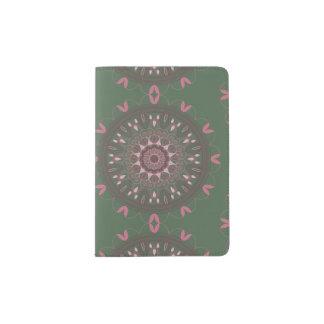 Ornate Boho Mandala Olive Passport Holder