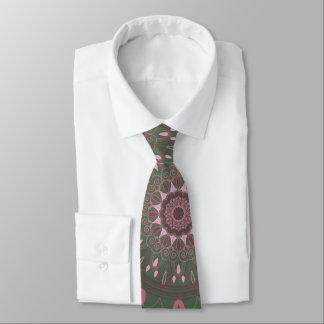 Ornate Boho Mandala Olive Tie