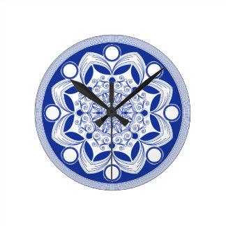 Ornate Boho Mandala Round Clock