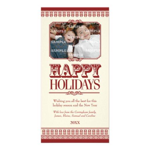 Ornate Borders Holiday Photo Card