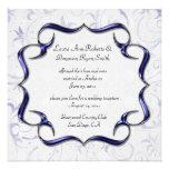 Ornate Bright Purple And Silver Post Wedding Personalized Invite