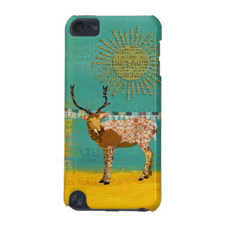 Ornate Bronze Buck Sunshine Teal iPod Touch 5G Case