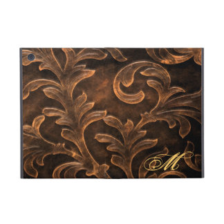 Ornate Bronze Leafed Monogram Ipad Mini Case