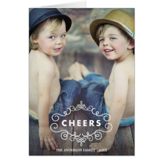 Ornate Cheers | Folded Holiday Greeting Card