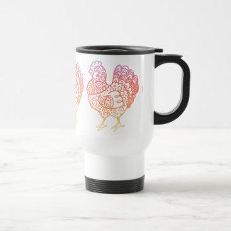 Ornate Chicken Lineart Travel Mug
