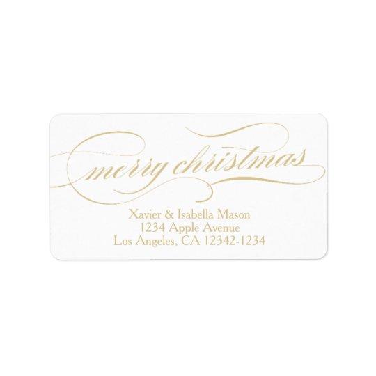 Ornate Christmas | Gold/White Label