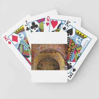ornate church inside bicycle playing cards