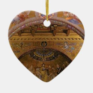 ornate church inside ceramic ornament