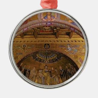ornate church inside metal ornament