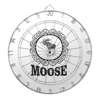 ornate circle moose dartboard