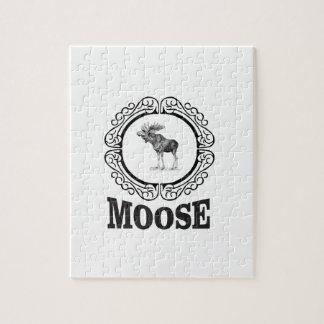 ornate circle moose jigsaw puzzle