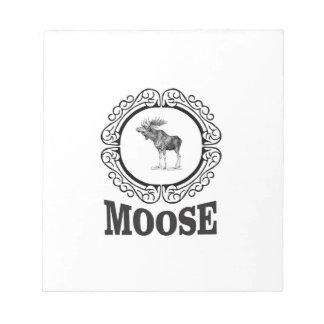 ornate circle moose notepad