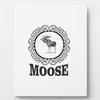 ornate circle moose plaque