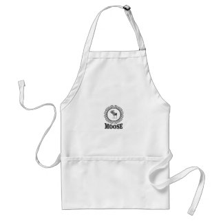 ornate circle moose standard apron