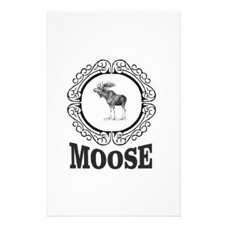 ornate circle moose stationery