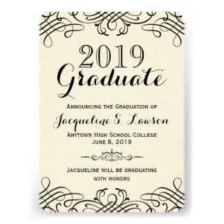 Ornate Classic Formal Graduation Announcement