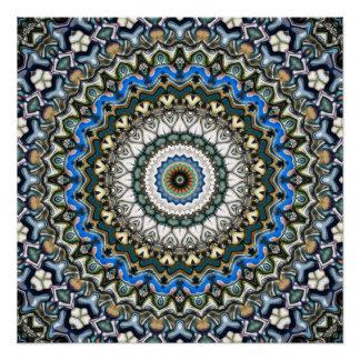 Ornate Colorful Mandala Poster