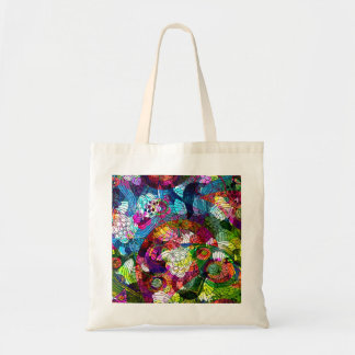 Ornate & Colorful Retro Flower Bag
