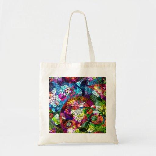 Ornate & Colorful Retro Flower Bag Bags