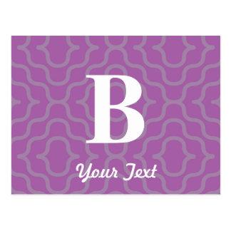Ornate Contemporary Monogram - Letter B Post Card