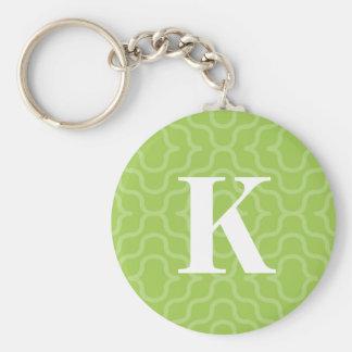 Ornate Contemporary Monogram - Letter K Key Ring