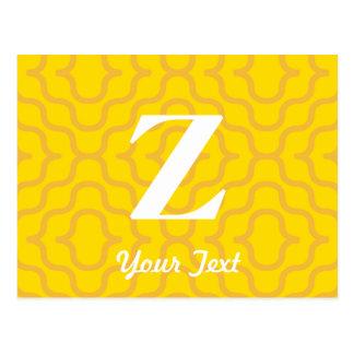 Ornate Contemporary Monogram - Letter Z Postcard