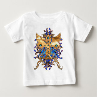 ORNATE CROSS WITH BLUE BACKGROUND T-SHIRT
