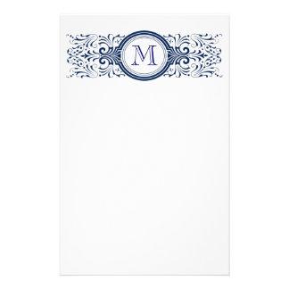 Ornate Customizable Monogram stationary Stationery