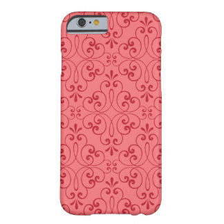 Ornate damask decorative red iPhone 6 case Barely There iPhone 6 Case